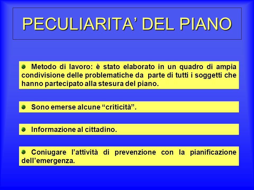 PECULIARITA' DEL PIANO