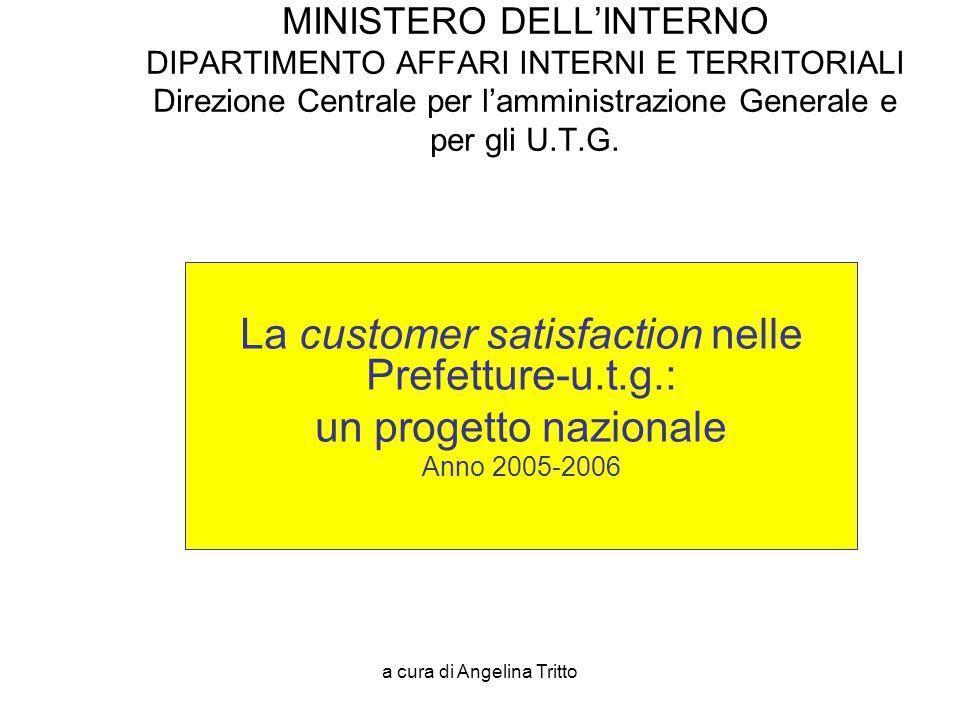 La customer satisfaction nelle Prefetture-u.t.g.: