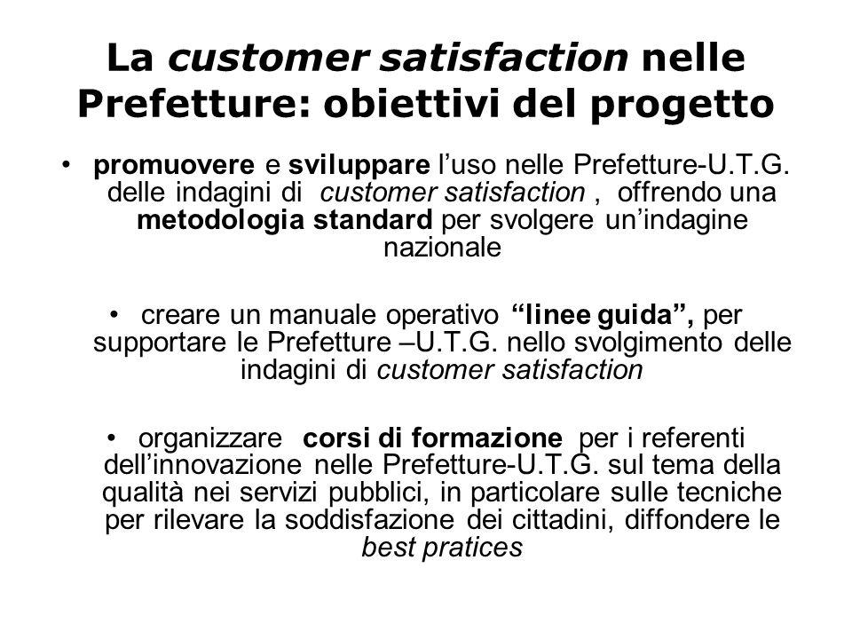 La customer satisfaction nelle Prefetture: obiettivi del progetto