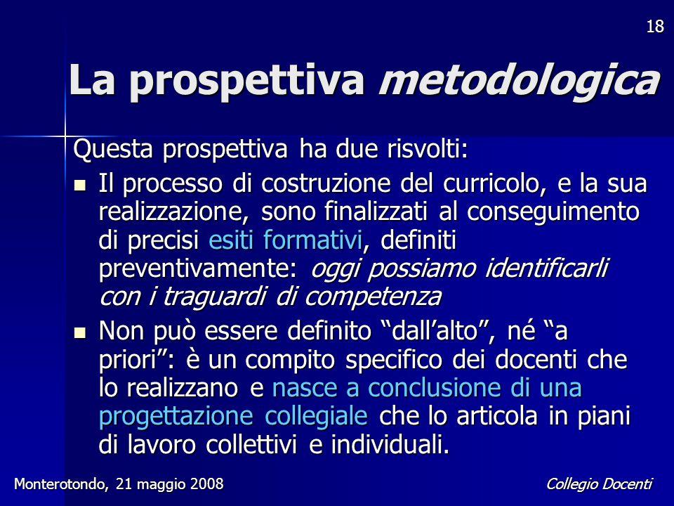 La prospettiva metodologica