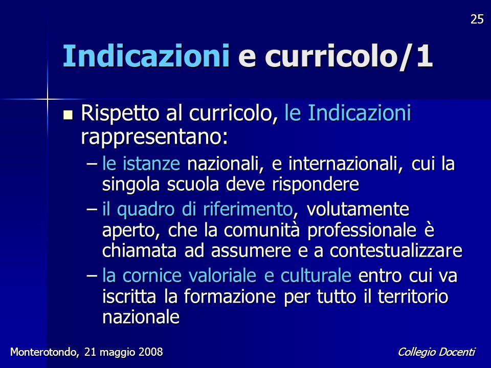 Indicazioni e curricolo/1