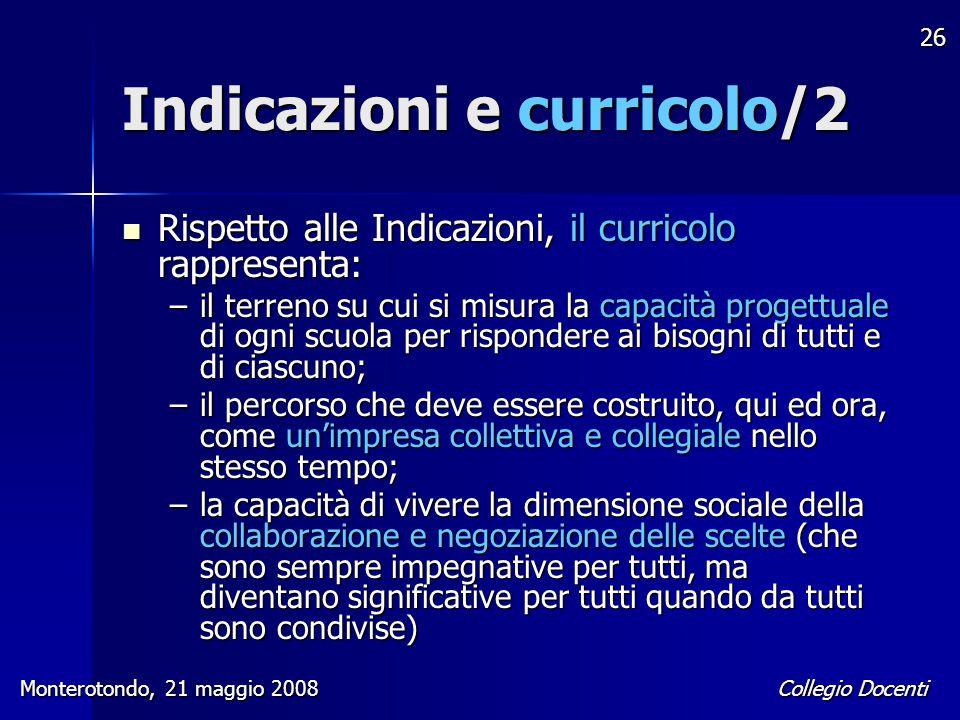 Indicazioni e curricolo/2