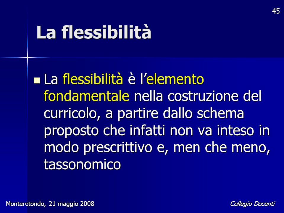 La flessibilità