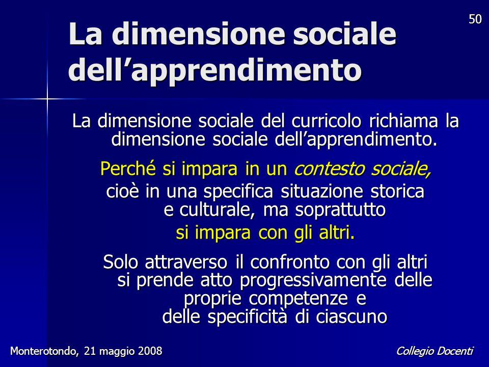 La dimensione sociale dell'apprendimento