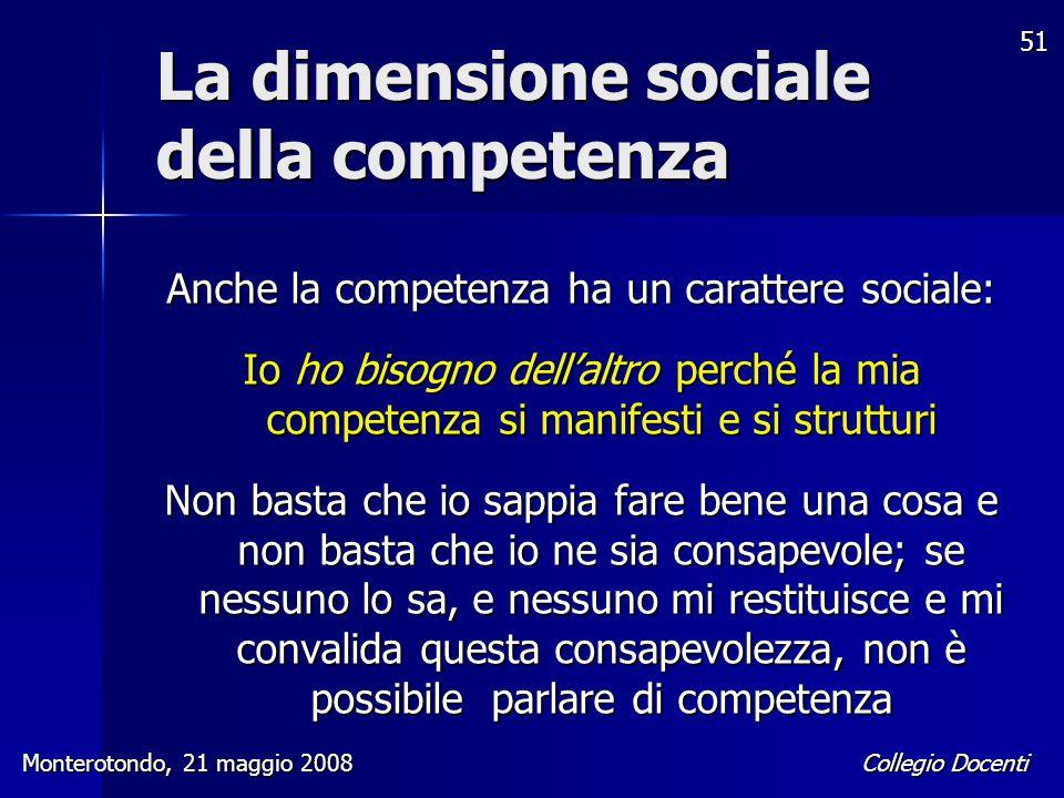 La dimensione sociale della competenza