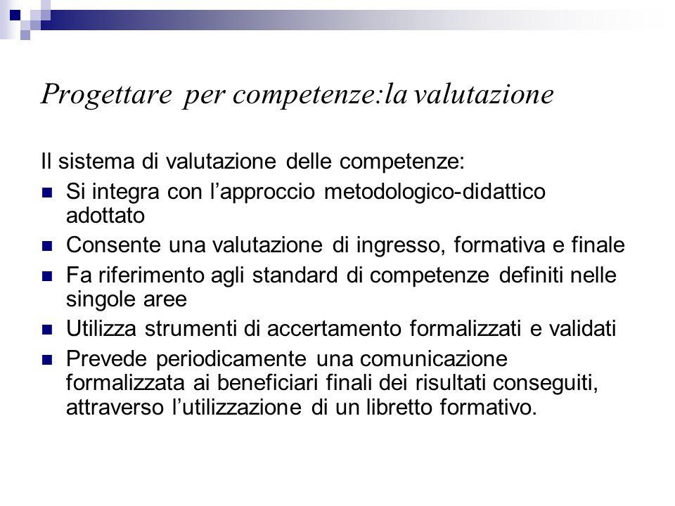 Progettare per competenze:la valutazione