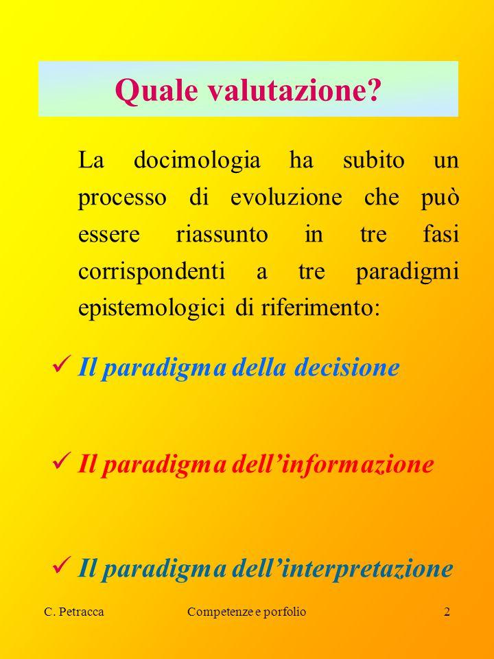 Quale valutazione Il paradigma della decisione
