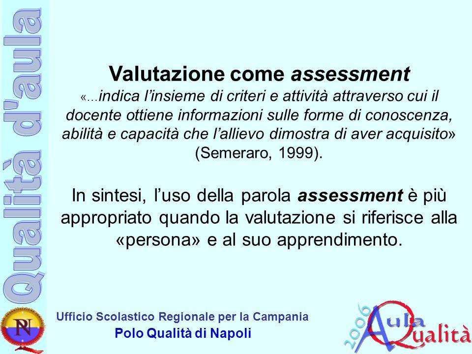 Valutazione come assessment