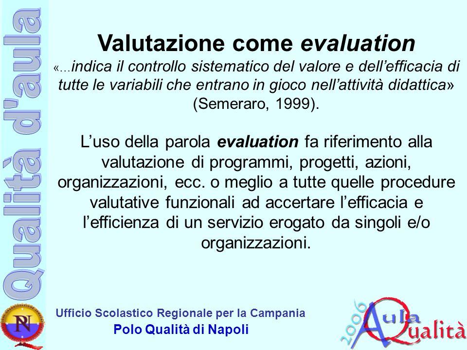 Valutazione come evaluation