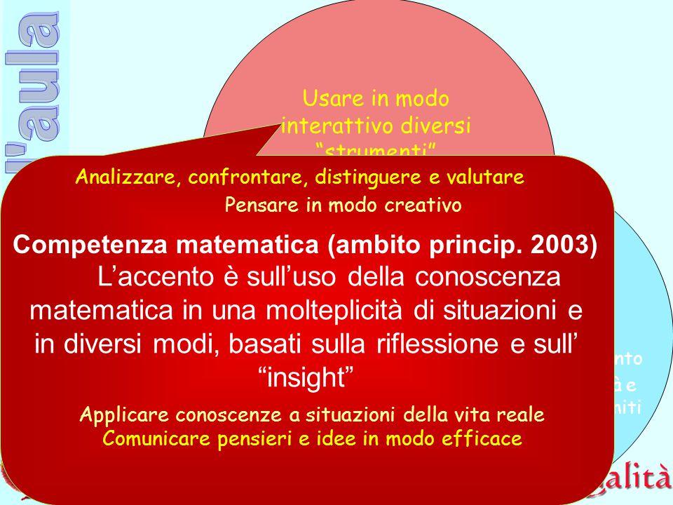 Competenza matematica (ambito princip. 2003)