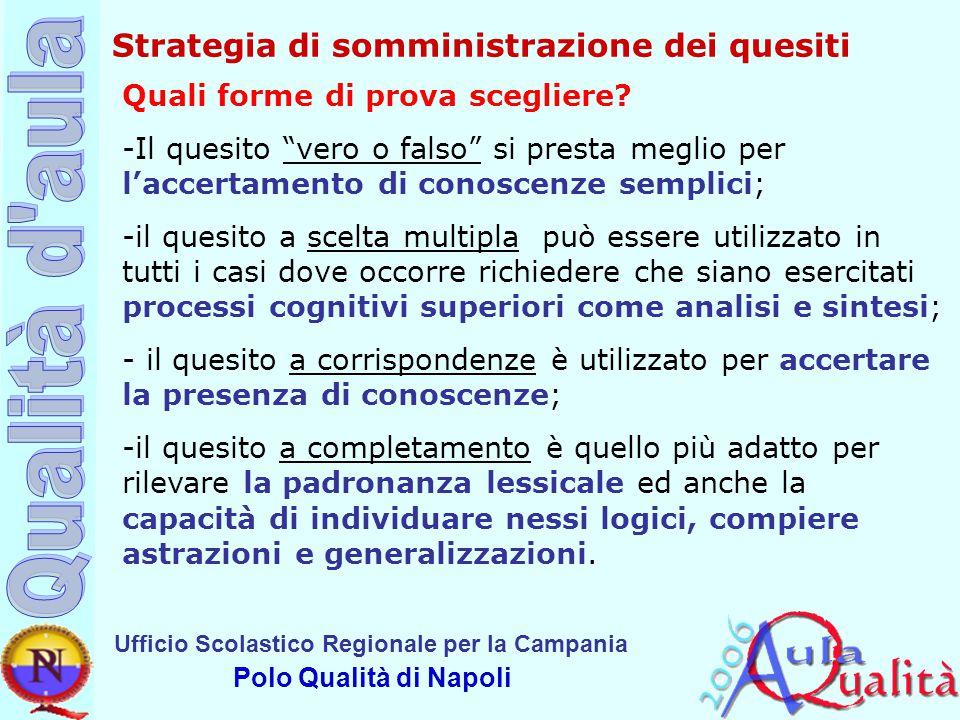 Strategia di somministrazione dei quesiti