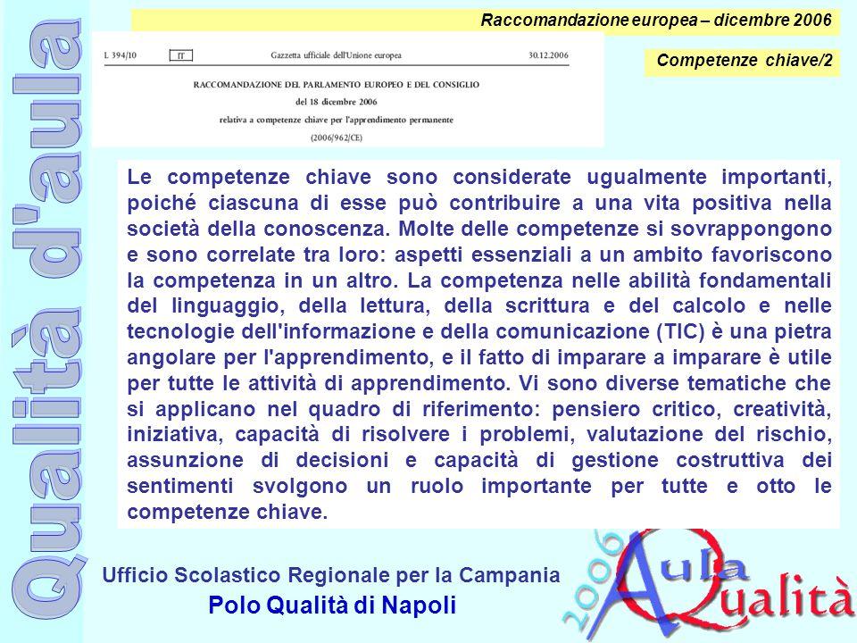 Raccomandazione europea – dicembre 2006