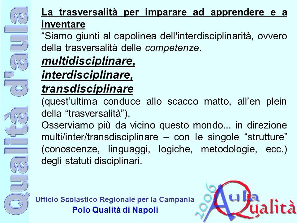 multidisciplinare, interdisciplinare, transdisciplinare
