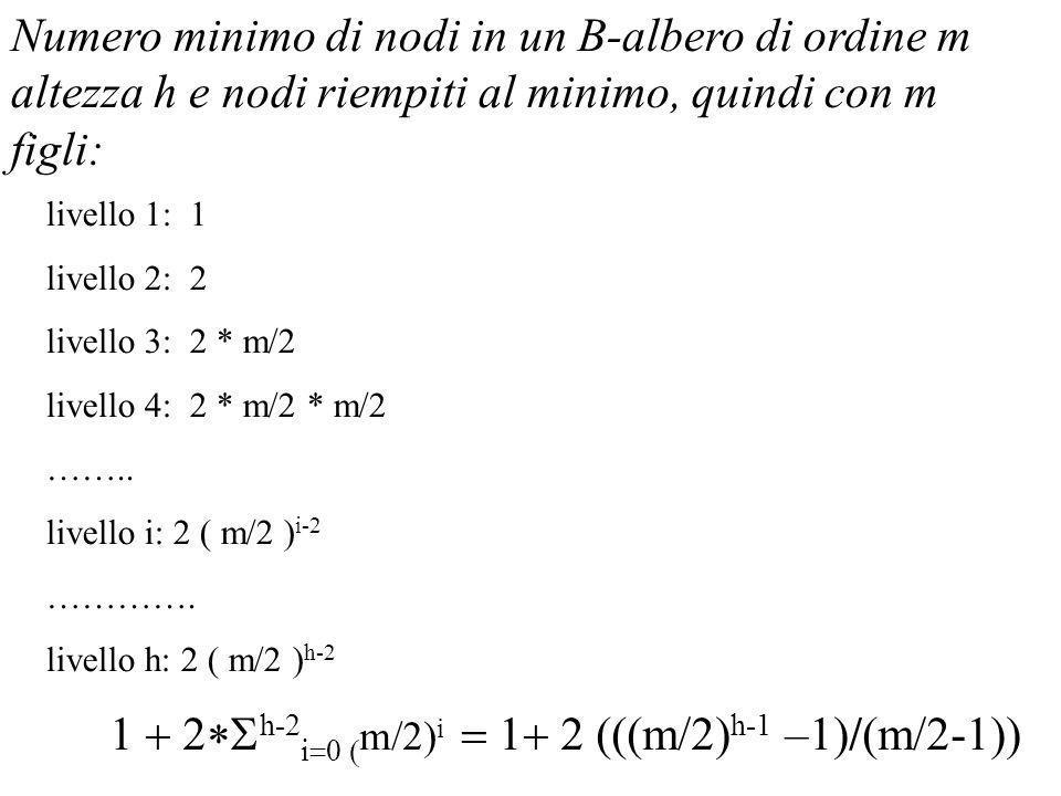 1 + 2*Sh-2i=0 (m/2)i = 1+ 2 (((m/2)h-1 –1)/(m/2-1))