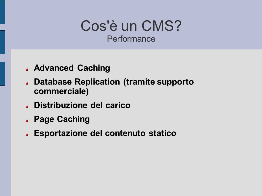 Cos è un CMS Performance