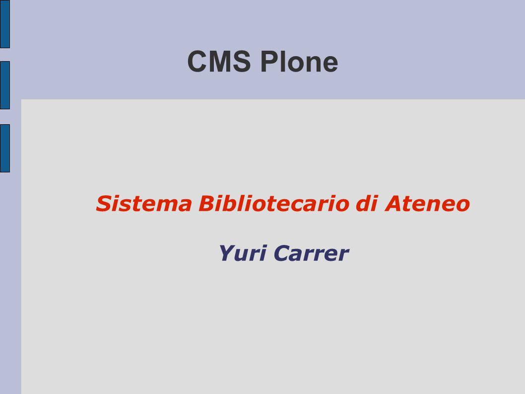 Sistema Bibliotecario di Ateneo Yuri Carrer