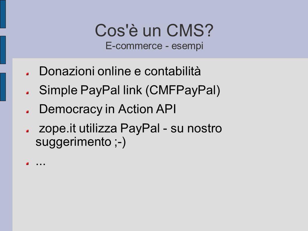 Cos è un CMS E-commerce - esempi