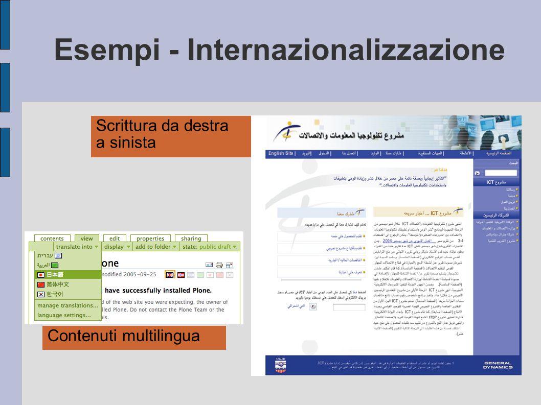 Esempi - Internazionalizzazione