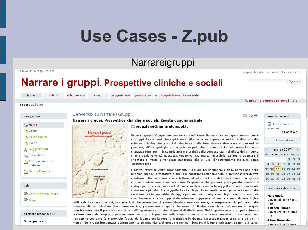 Use Cases - Z.pub Narrareigruppi