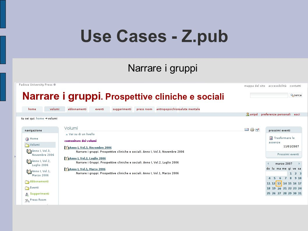 Use Cases - Z.pub Narrare i gruppi