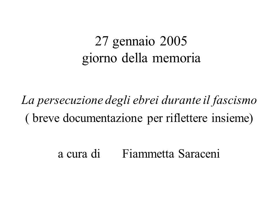 27 gennaio 2005 giorno della memoria