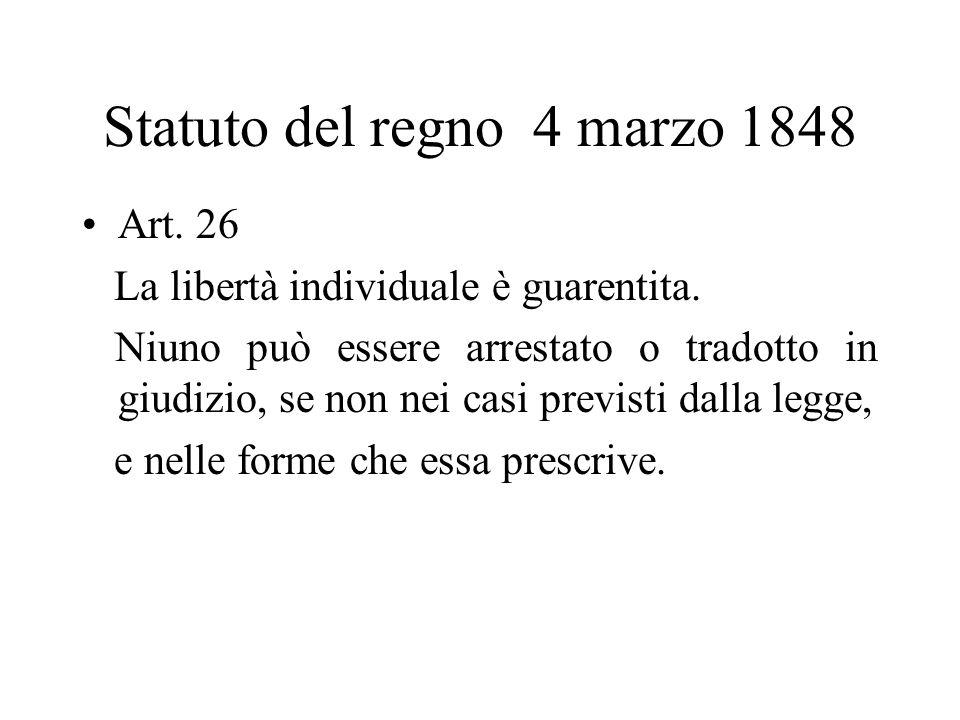 Statuto del regno 4 marzo 1848