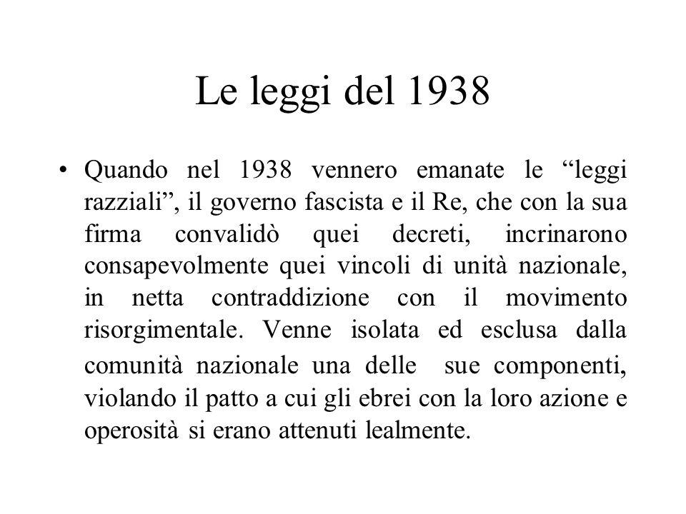 Le leggi del 1938