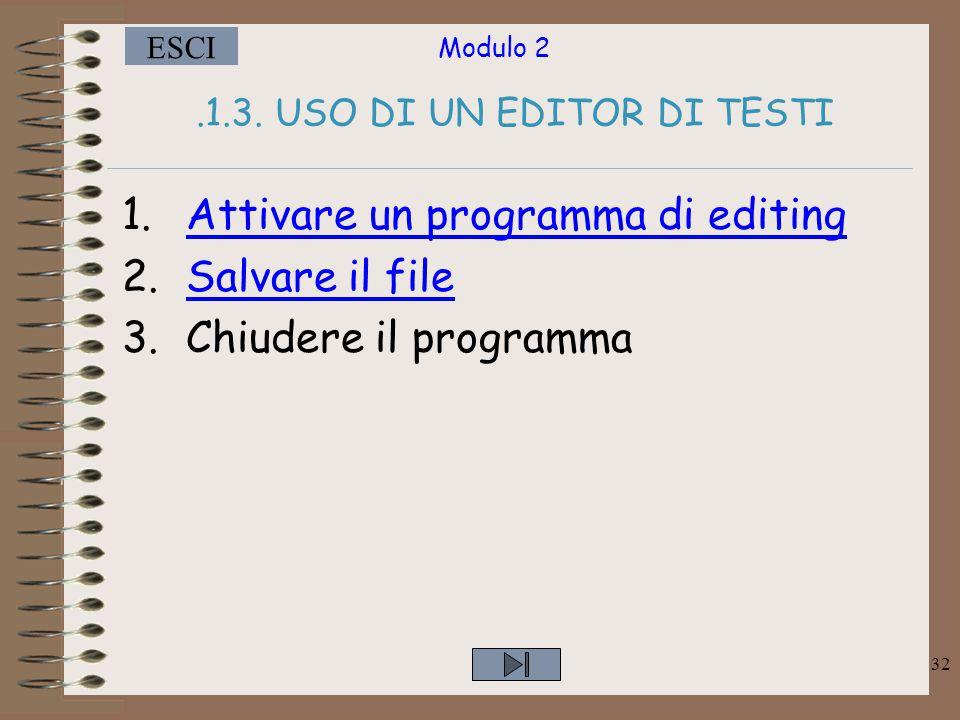 .1.3. USO DI UN EDITOR DI TESTI
