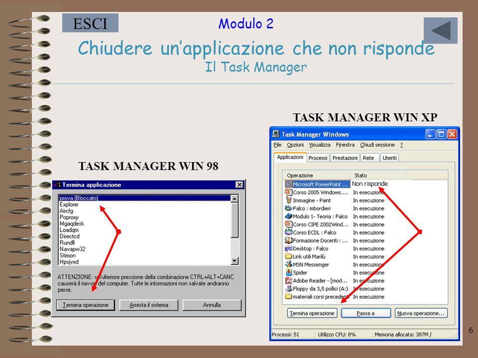 Chiudere un'applicazione che non risponde Il Task Manager