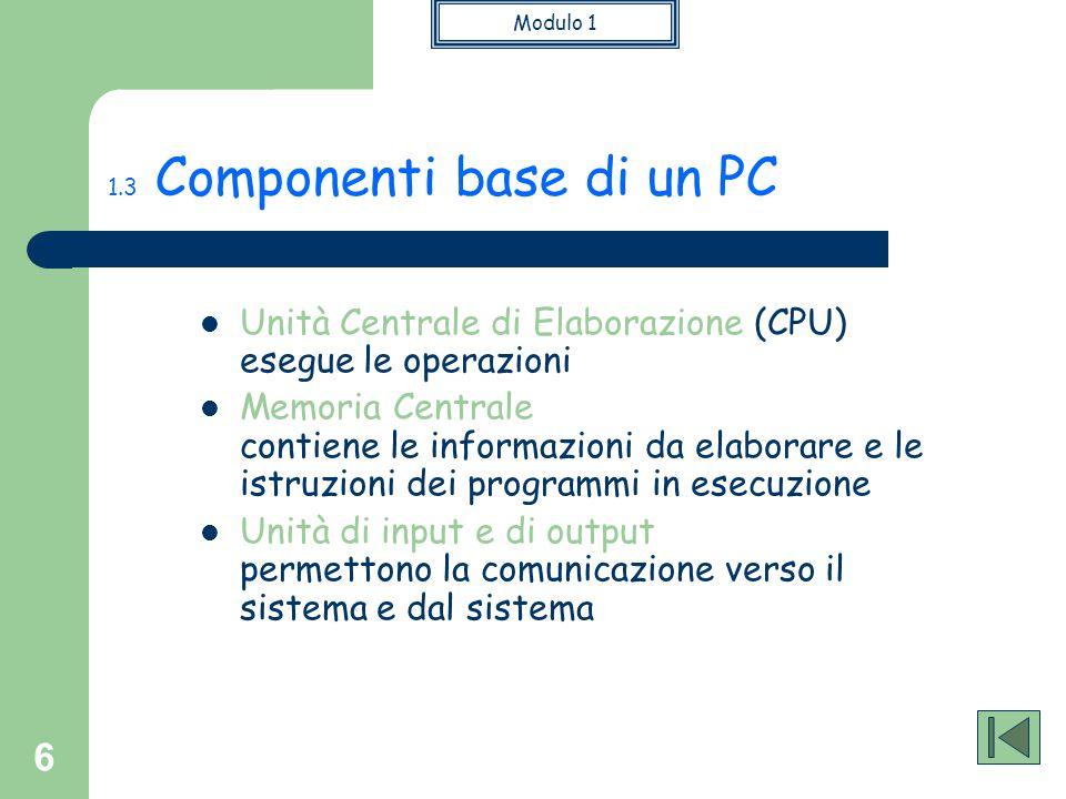 1.3 Componenti base di un PC