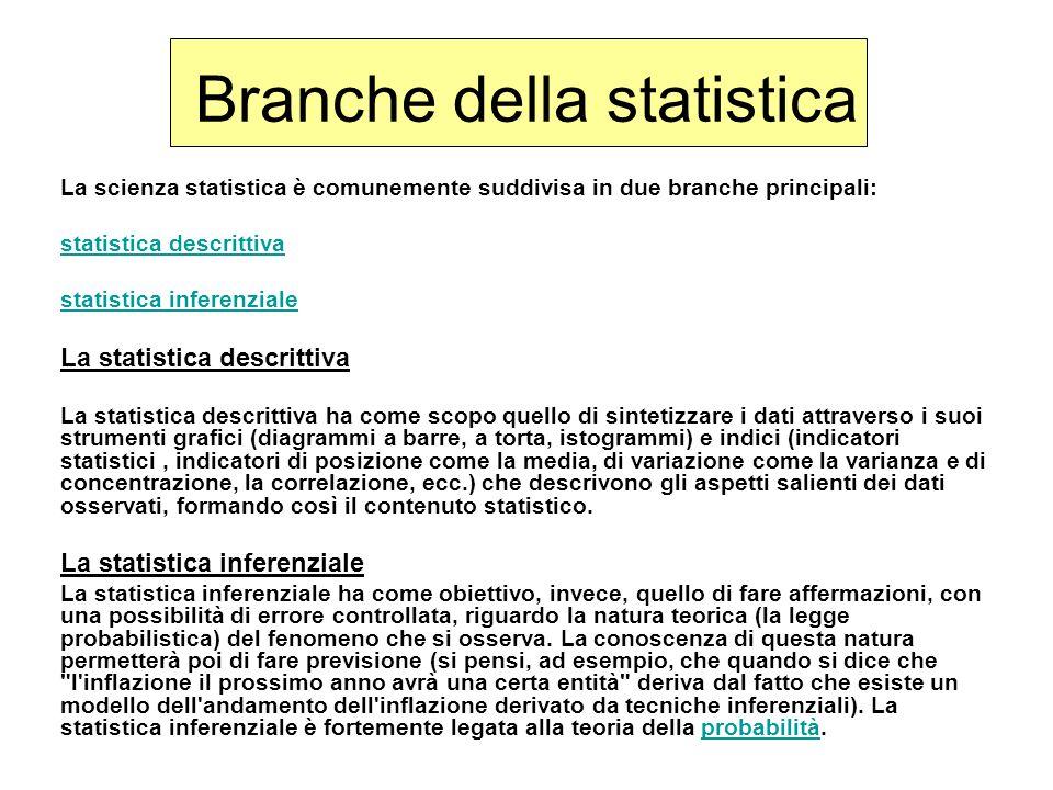 Branche della statistica