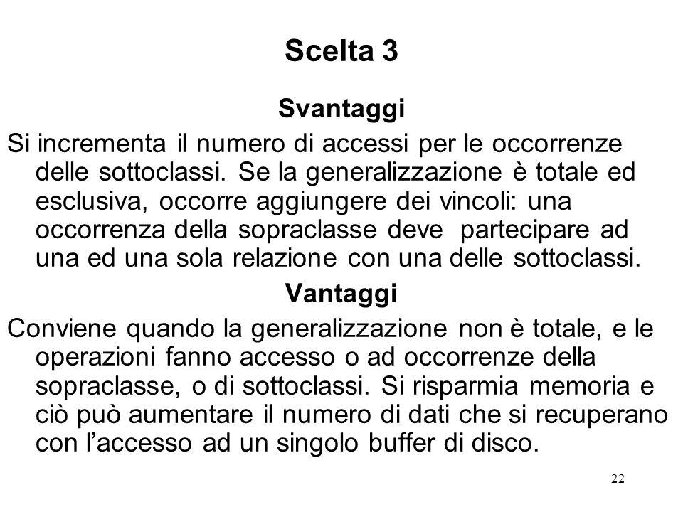 Scelta 3 Svantaggi.