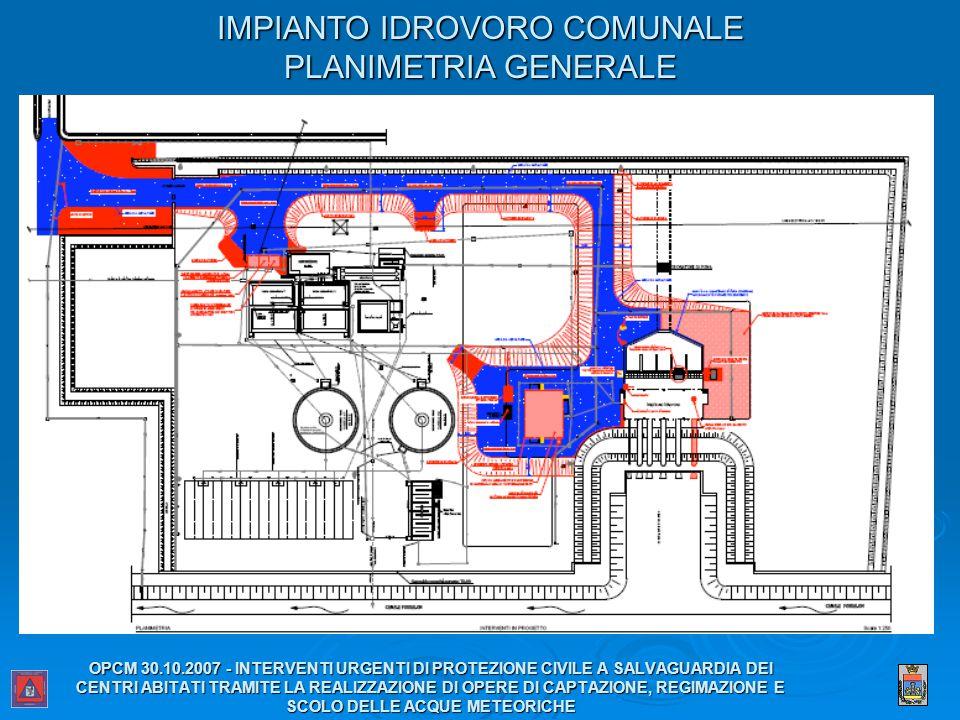 IMPIANTO IDROVORO COMUNALE PLANIMETRIA GENERALE