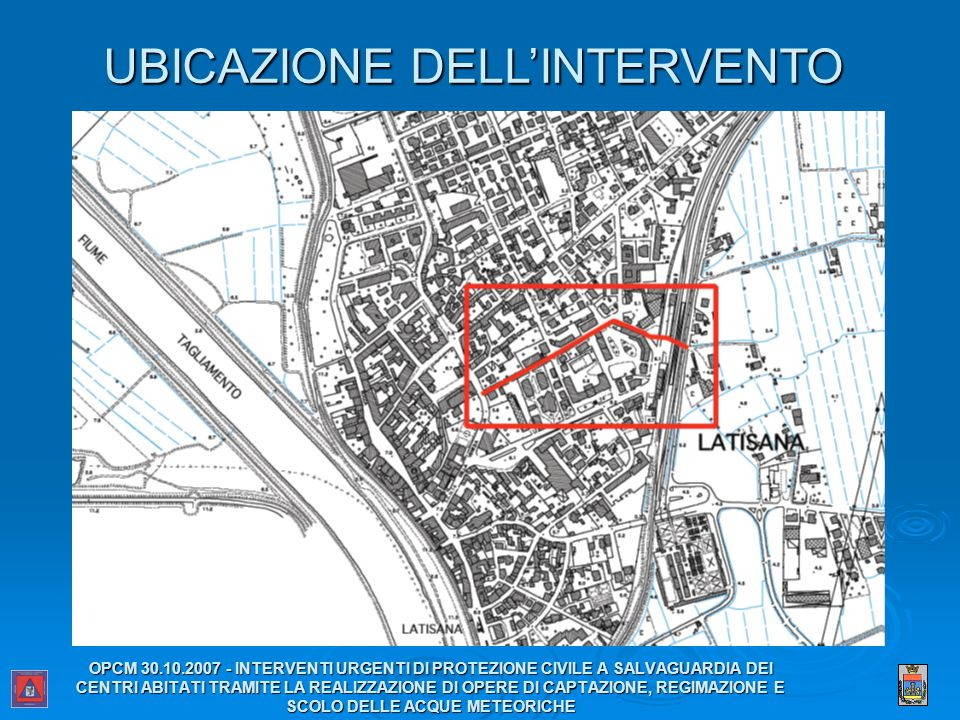 UBICAZIONE DELL'INTERVENTO