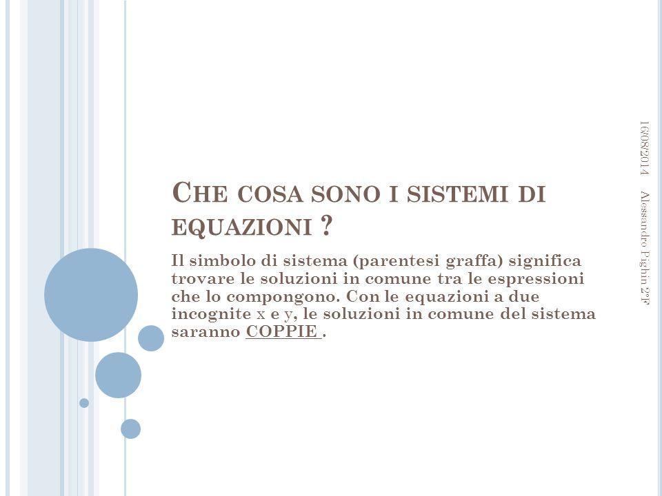 Che cosa sono i sistemi di equazioni