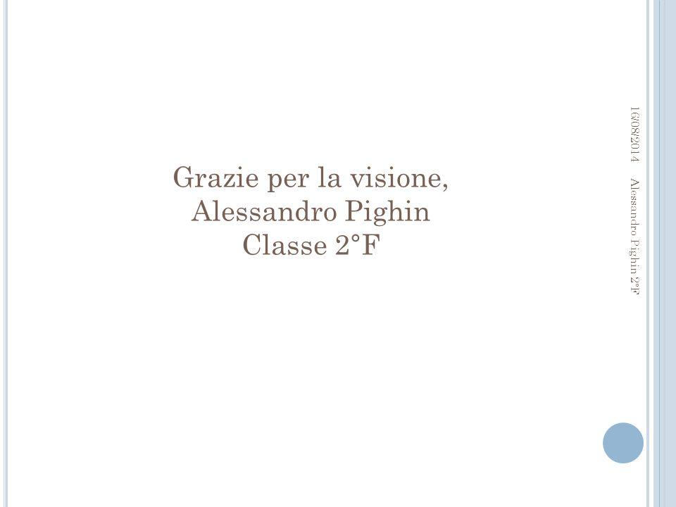 Grazie per la visione, Alessandro Pighin Classe 2°F
