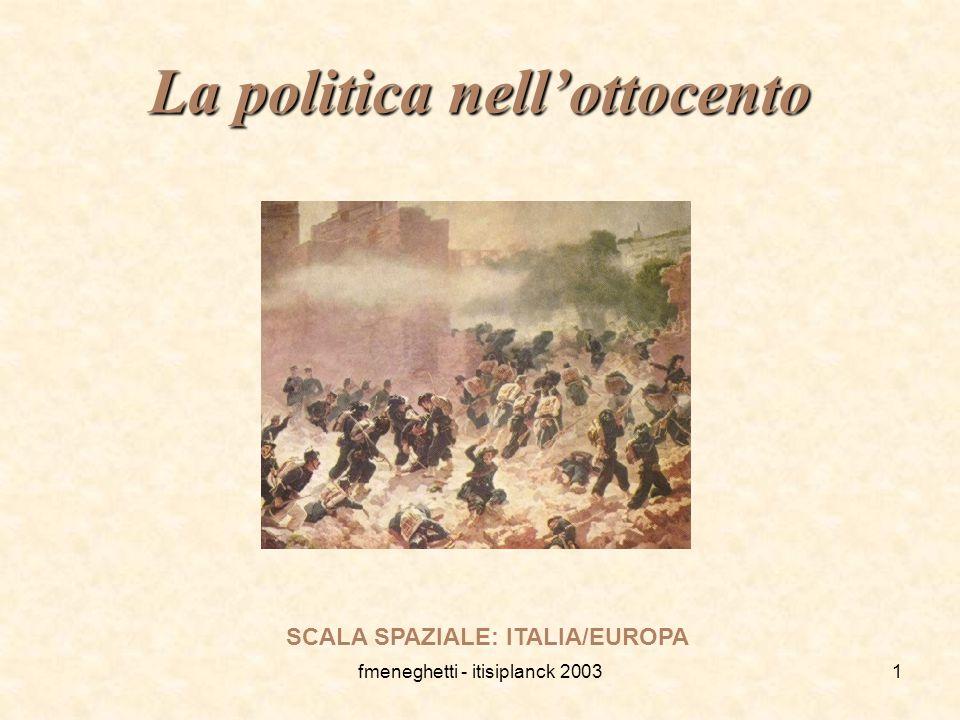 La politica nell'ottocento