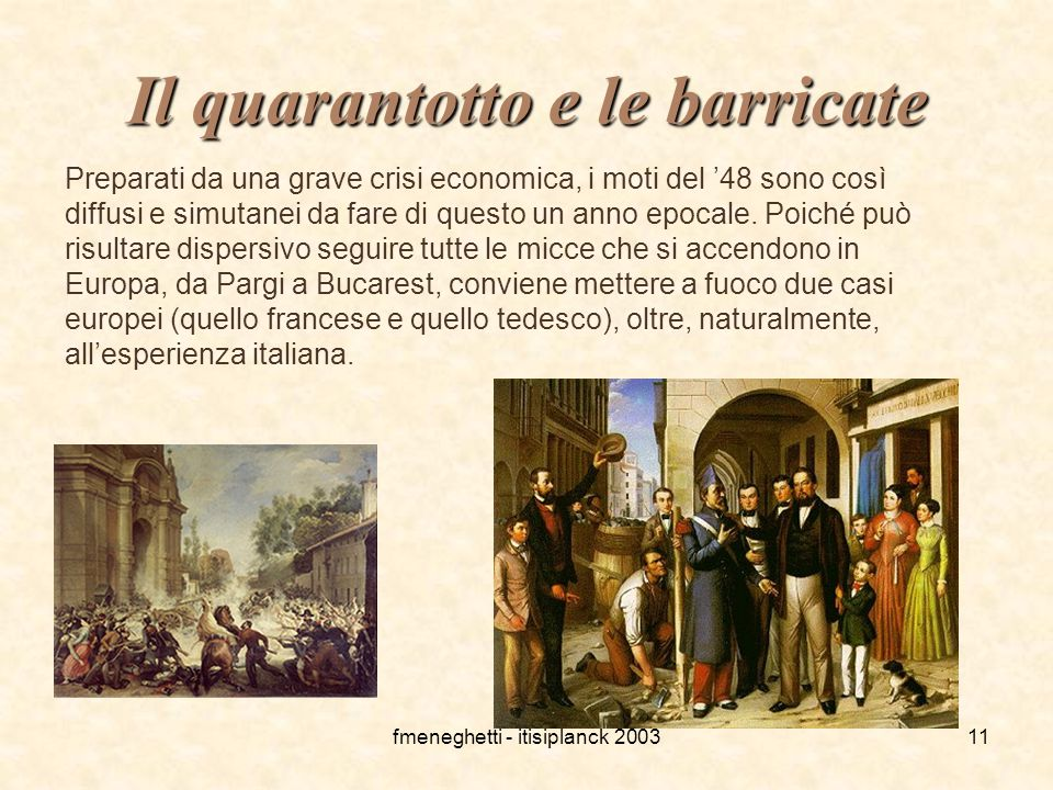 Il quarantotto e le barricate