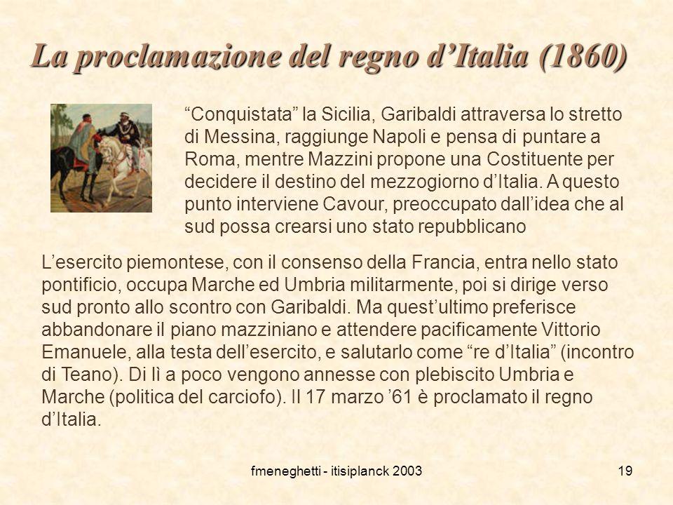 La proclamazione del regno d'Italia (1860)
