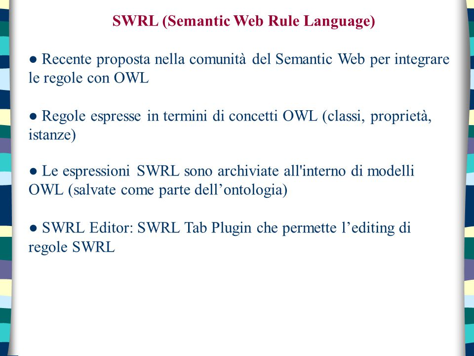 SWRL (Semantic Web Rule Language)