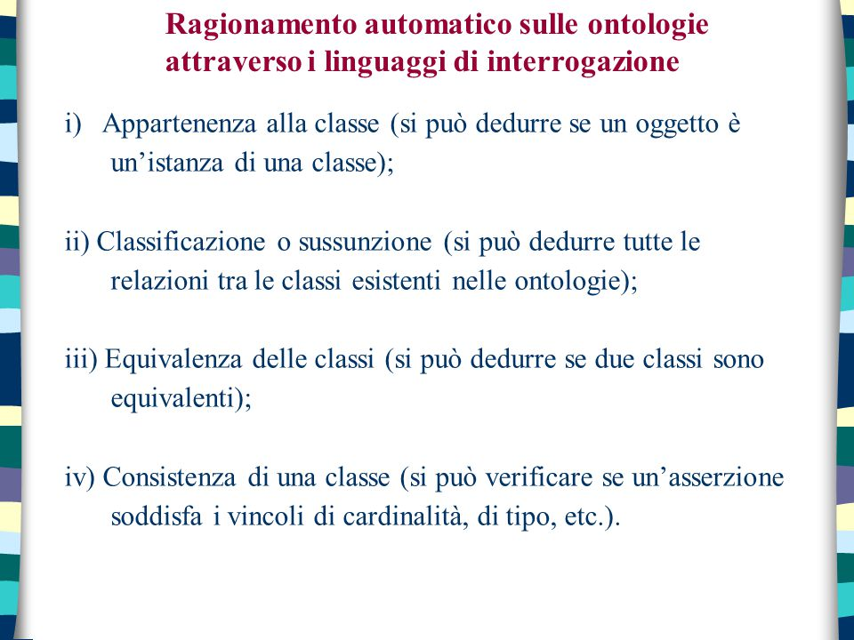 Ragionamento automatico sulle ontologie