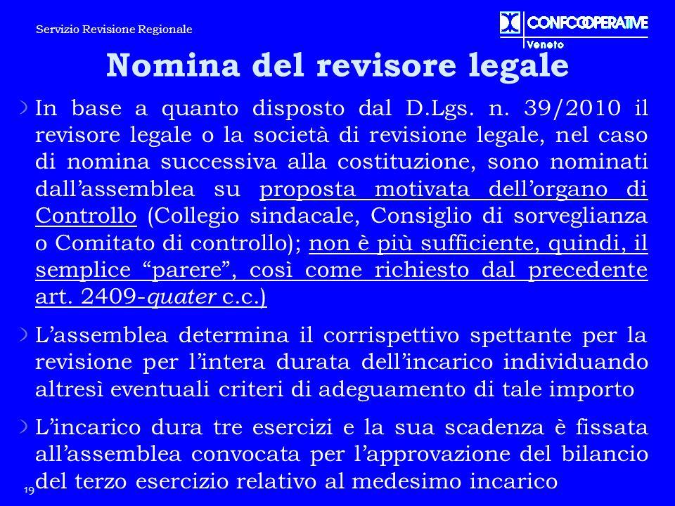 Nomina del revisore legale