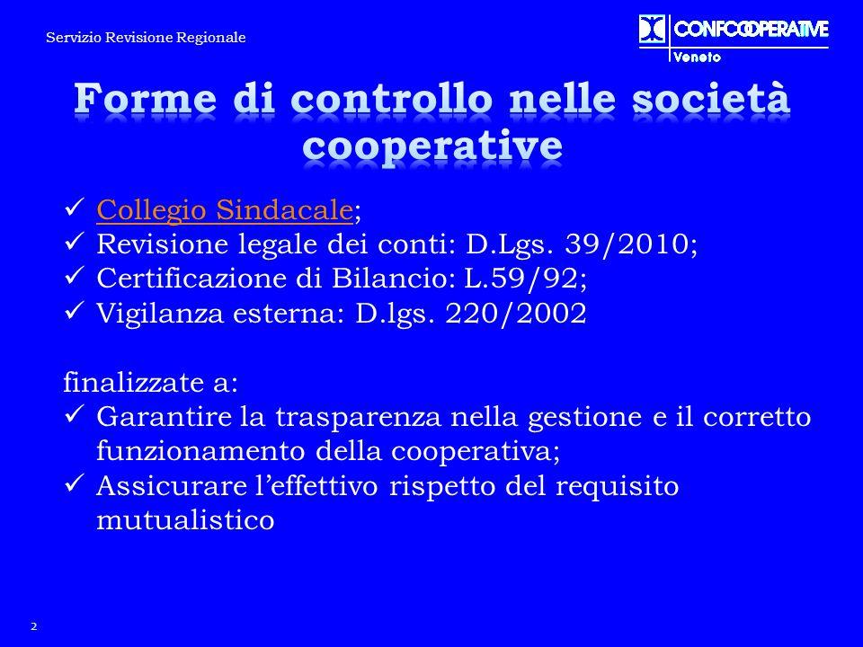 Forme di controllo nelle società cooperative