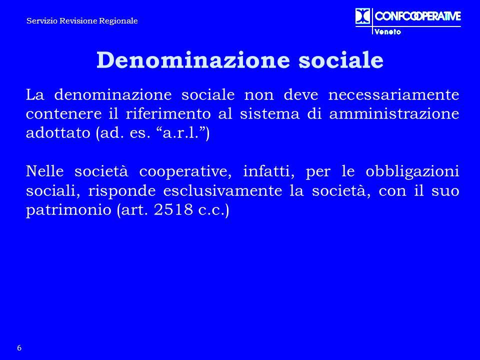 Denominazione sociale