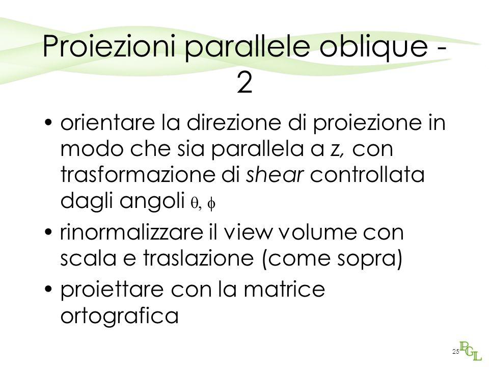 Proiezioni parallele oblique - 2