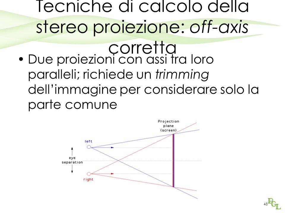 Tecniche di calcolo della stereo proiezione: off-axis corretta