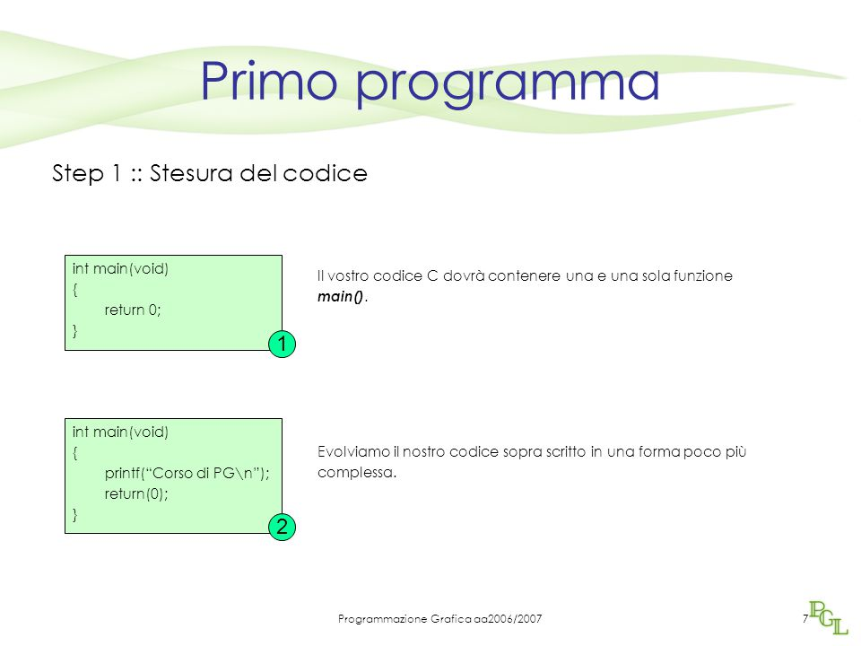 Programmazione Grafica aa2006/2007