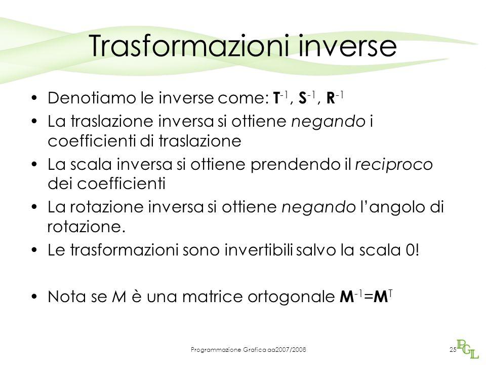 Trasformazioni inverse