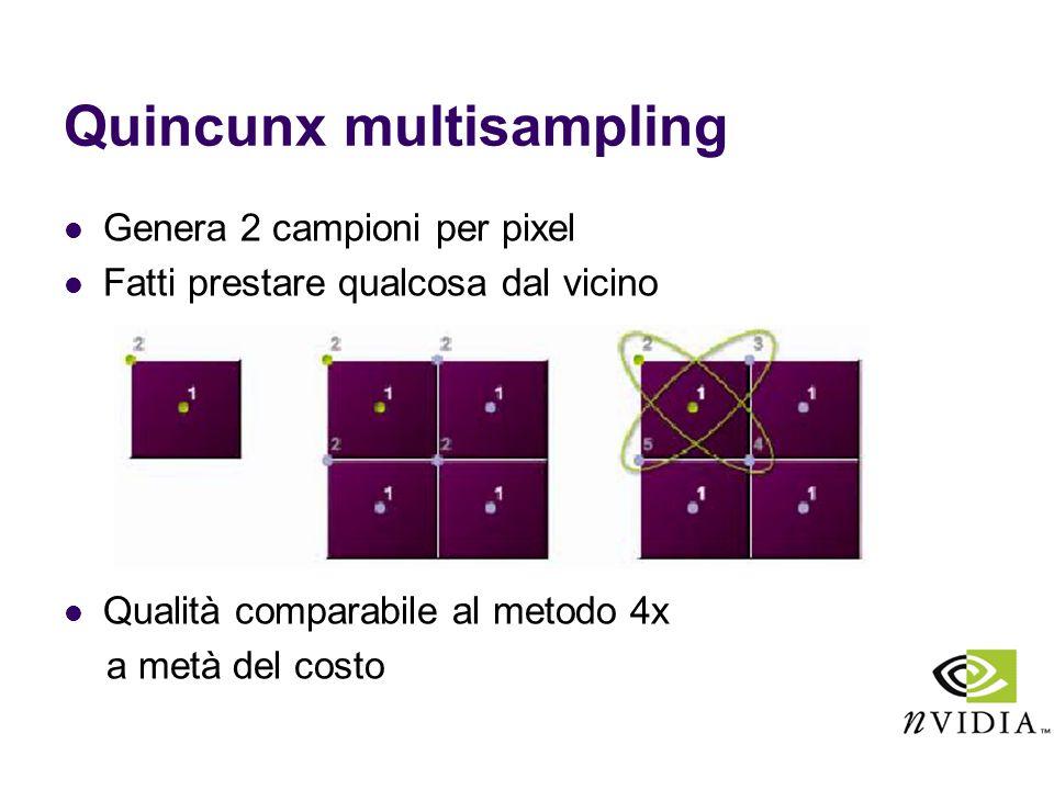 Quincunx multisampling