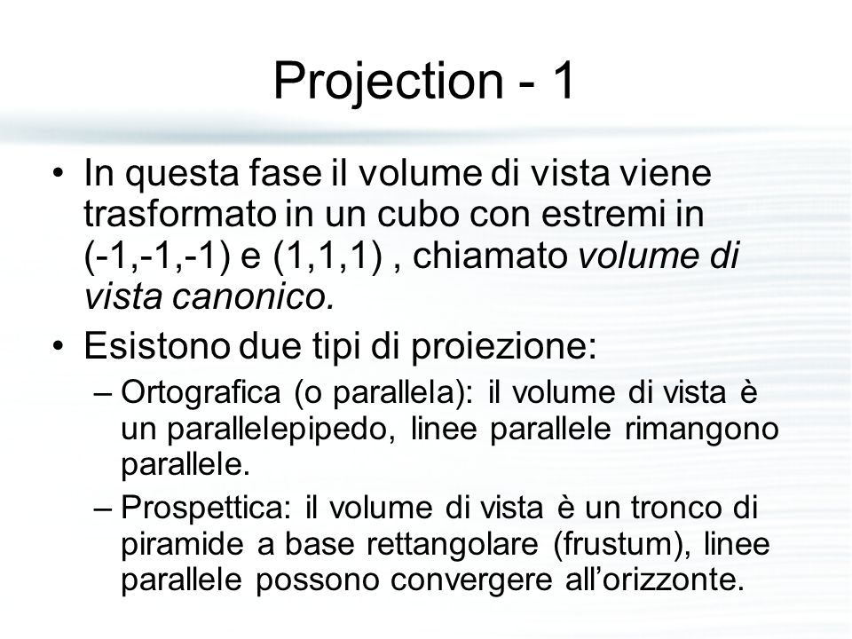 Projection - 1
